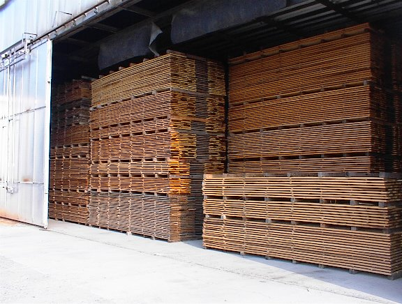 Lumber Stacked For Air Drying Just Over 8000 Bf Sawed In 3 5 Days