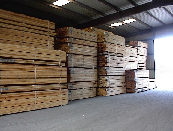 hardwood inventory kiln dried lumber warehouse stock